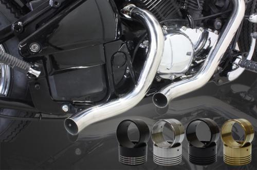 ガレージT&F フルエキゾーストマフラー ターンアウトマフラー バフ仕上げ マフラーエンドタイプ:エンド無し バルカン400 バルカン400II バルカンクラシック400