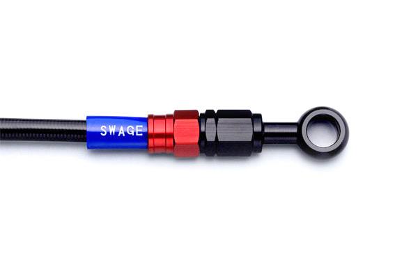 SWAGE-LINE スウェッジライン フロント ブレーキホースキット ホースの長さ:150mmロング ホースカラー:ブラックスモーク CBR250RR [MC51]