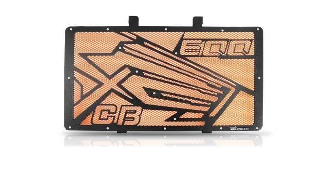 Dimotiv ディモーティヴ コアガード ラジエーターガードスペシャル(Radiator Guard - Special) カラー:Orange CB600F Hornet 2007-2012