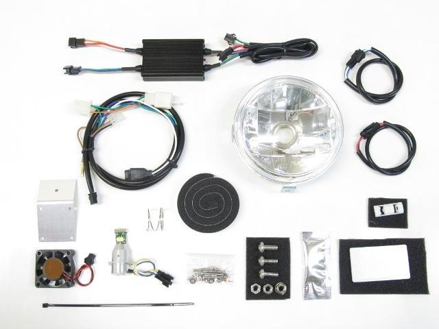 PROTEC プロテック ヘッドライト本体・ライトリム/ケース LEDマルチリフレクターヘッドライトキット 色温度:3000K スーパーカブ110 スーパーカブ50