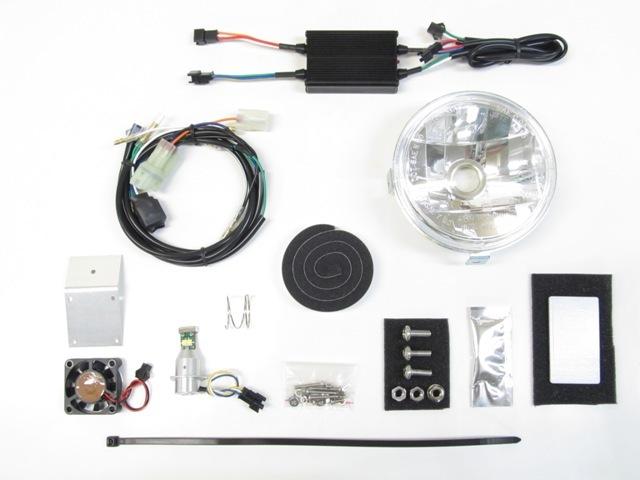 PROTEC プロテック ヘッドライト本体・ライトリム/ケース LEDマルチリフレクターヘッドライトキット 色温度:6000K クロスカブ110