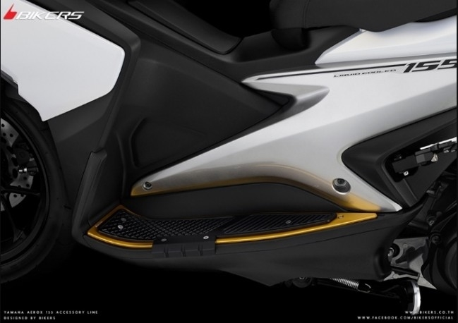 BIKERS バイカーズ フットプレート エキストラ プロテクター付き AEROX 155