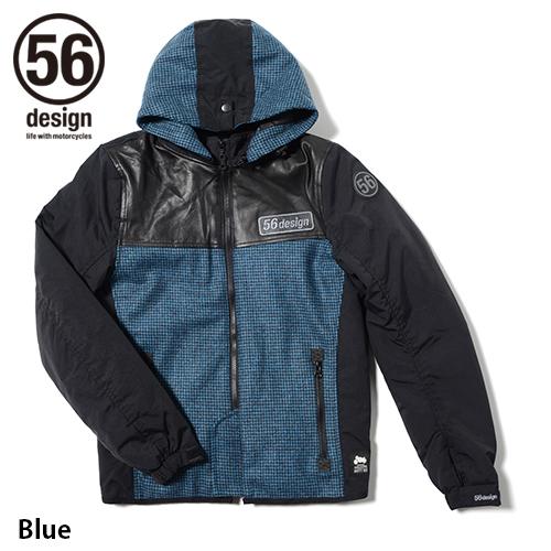 56design 56デザイン ライディングジャケット S-Line Padding Parka [Sライン パディング パーカー] サイズ:S