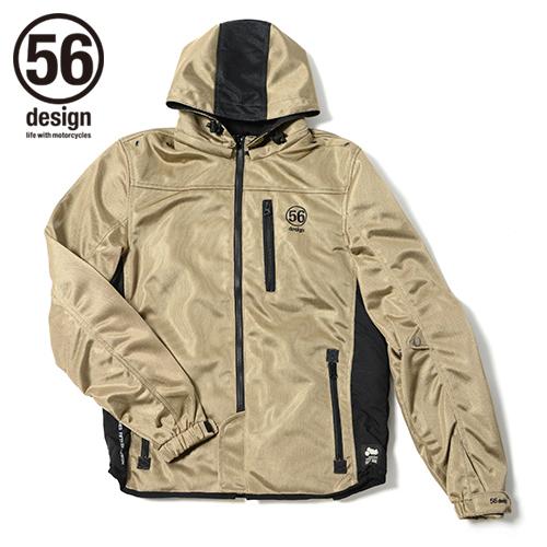 56design 56デザイン ライディングジャケット S-Line Mesh Parka [Sライン メッシュ パーカー] WD サイズ:M