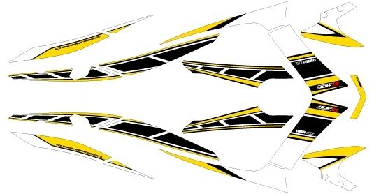 MDF エムディーエフ ステッカー・デカール 専用グラフィック ストロボモデル タイプ:コンプリートセット マジェスティS
