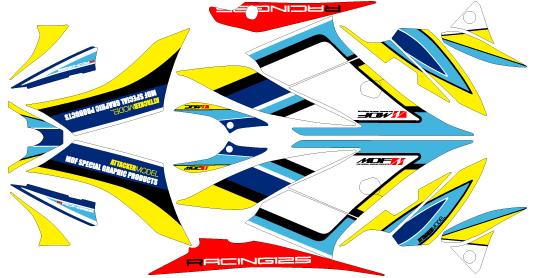 MDF エムディーエフ ステッカー・デカール 専用グラフィック アタッカーモデル カラータイプ:ブラックタイプ タイプ:コンプリート GSX-R125
