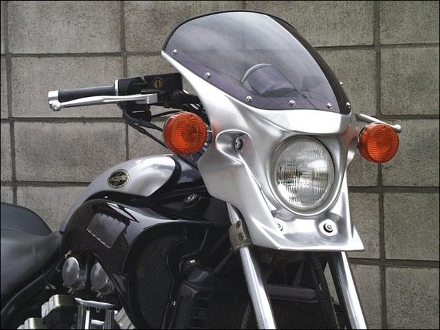 CHIC DESIGN シックデザイン ビキニカウル・バイザー マスカロード カラー:未塗装(黒ゲルコート) スクリーンカラー:ロングクリア V-MAX 1200
