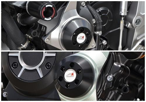 【在庫あり】AGRAS アグラス ガード・スライダー レーシングスライダーSET ジュラコンカラー:ブラック CB1000R (2018-)