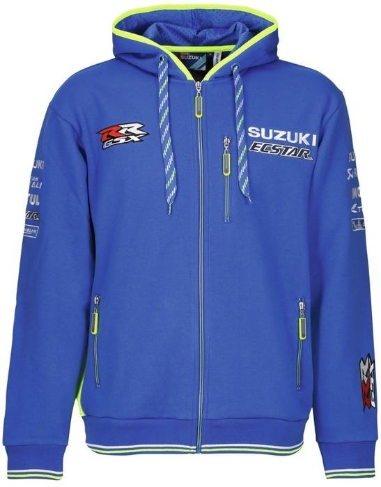 US SUZUKI 北米スズキ純正アクセサリー 2018 チームスズキ エクスター フーディ【2018 Team Suzuki ECSTAR Hoodie】