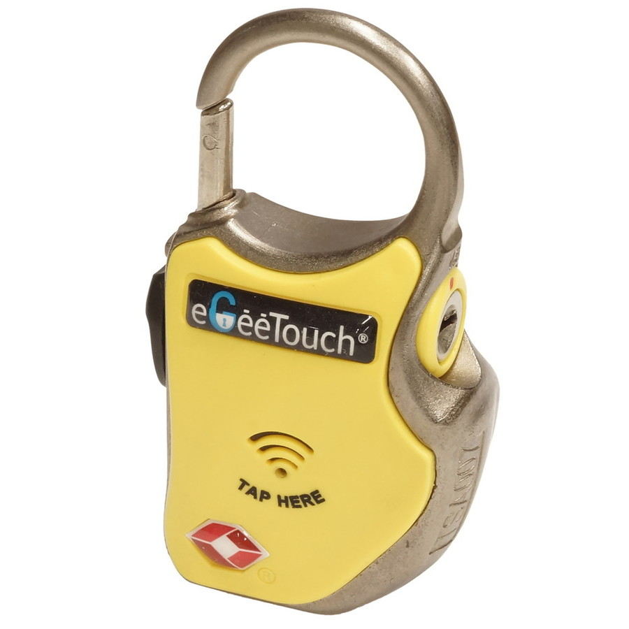 eGee Touchイージータッチ ワイヤーロック  スマートトラベルロック ワイヤーplus eGee Touch イージータッチ スマートトラベルロック ワイヤーplus カラー:イエロー