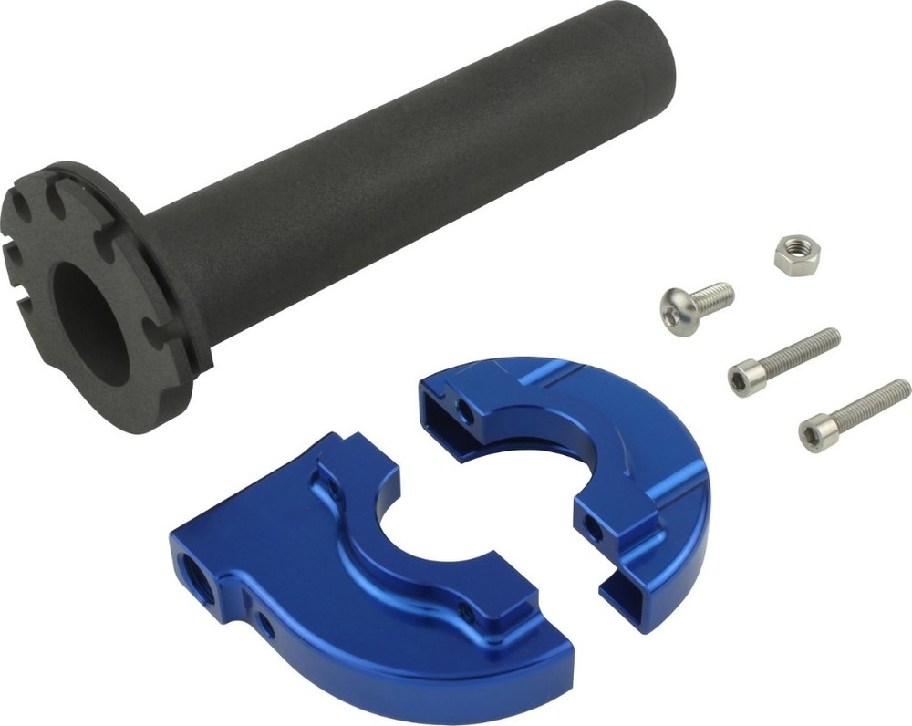 SHIFT UP シフトアップ ハイスロキット MINI ハイスロットルケース&スリーブ44mm カラー:ブルー