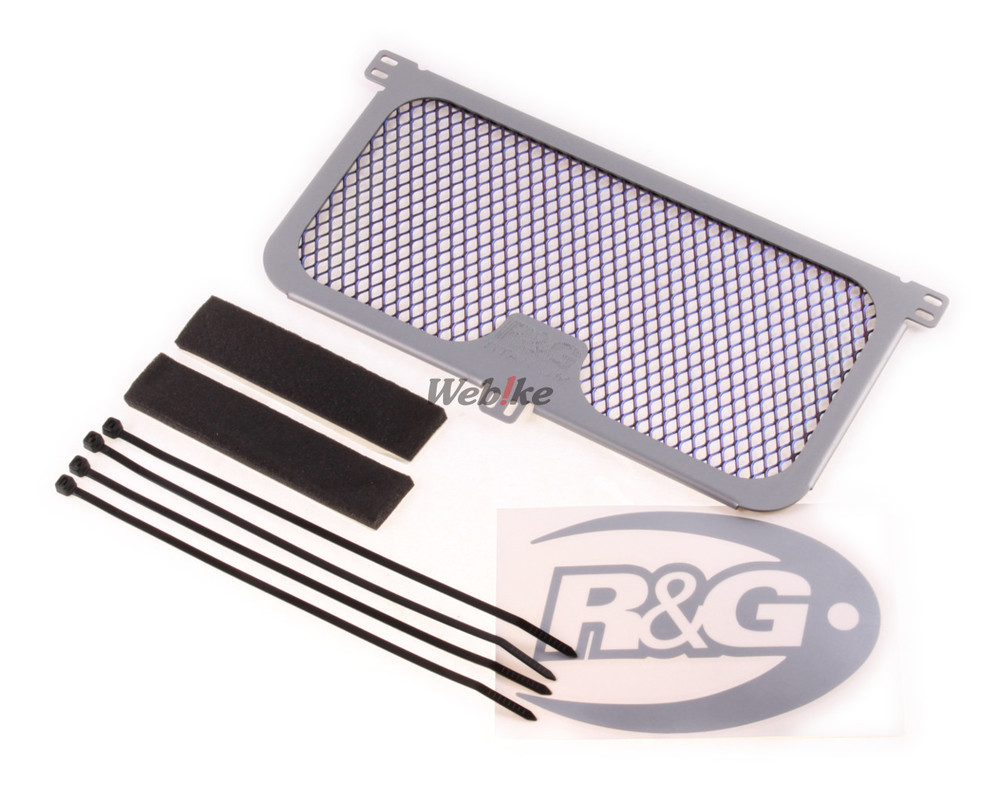 R&G アールアンドジー オイルクーラー関連部品 チタニウム オイルクーラーガード【Titanium Oil Cooler Guard】■ MT-10