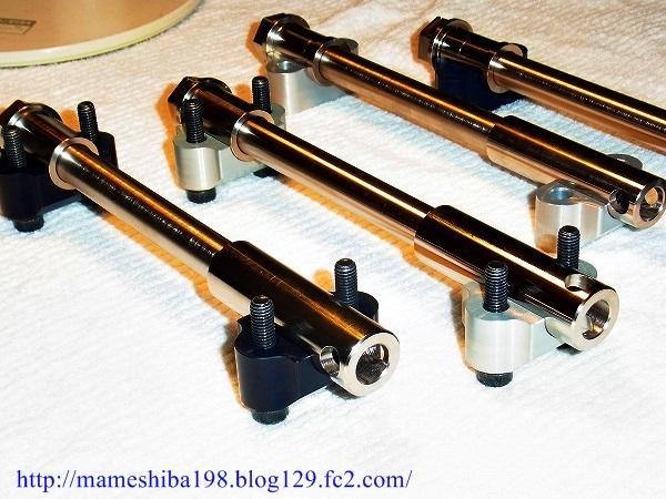 ホイール関連 GS1000 GS750 GSX1100S GSX750S ファクトリーまめしば Mameshiba W-2073-P21397132  ファクトリーまめしば Mameshiba ホイール関連パーツ クロモリ 強化フロントアクスルキット カラー:ブラック GS1000 GS750 GSX1100S GSX750S