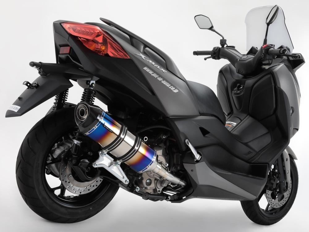 BEAMS ビームス GT-CORSA フルエキゾーストマフラー サイレンサー:ヒートチタン/重量(純正7.05kg):4.35kg XMAX 250