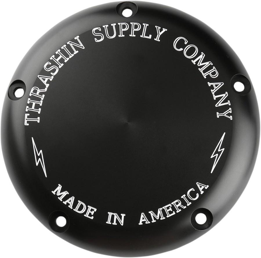 THRASHIN SUPPLY スラッシンサプライ エンジンカバー COVER DERBY CLAS カラー:Black Natural/FINISH:Anodized Re-Machined[1107-0587]