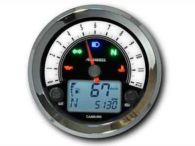 ACEWELL エースウェル スピードメーター 多機能デジタルメーター タイプ:15000rpmスケール パネルカラー:ホワイト