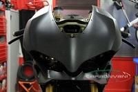 CARBONVANIカーボンバーニアッパーカウルヘッドライトフェアリングクリア塗装:艶なしMAT959PANIGALE