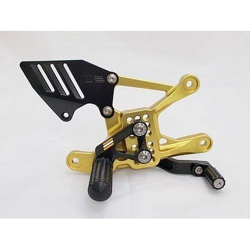 GiaMoto ギアモト バックステップキット カラー:60周年アニバーサリーカラー(ゴールド、ブラック) YZF-R1 15- YZF-R1M 15-