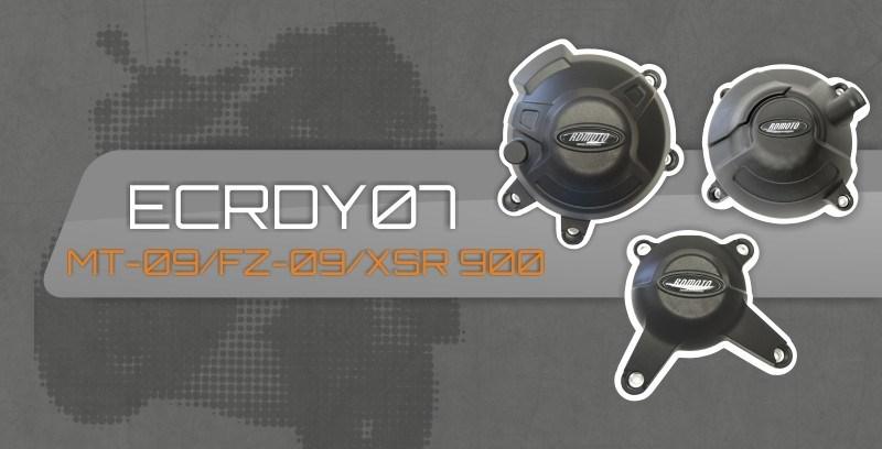 アールディーモト RDmoto エンジンカバーセット【Set of engine covers RDmoto】 FZ-09 13- MT-09 13- XSR 900 13-