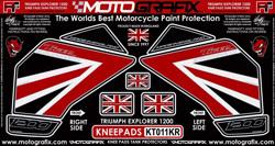 【ポイント5倍開催中!!】MOTOGRAFIX モトグラフィックス ステッカー・デカール ボディーパッド カラー:ブラック/レッド TIGER1200 EXPLORER(12-) TIGER1200 XCA TIGER1200 XRT