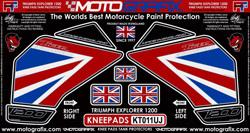【ポイント5倍開催中!!】MOTOGRAFIX モトグラフィックス ステッカー・デカール ボディーパッド カラー:グレー/ユニオンジャック TIGER1200 EXPLORER(12-) TIGER1200 XCA TIGER1200 XRT
