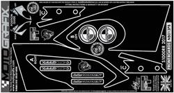 【ポイント5倍開催中!!】MOTOGRAFIX モトグラフィックス ステッカー・デカール ボディーパッド S1000RR(15-18)