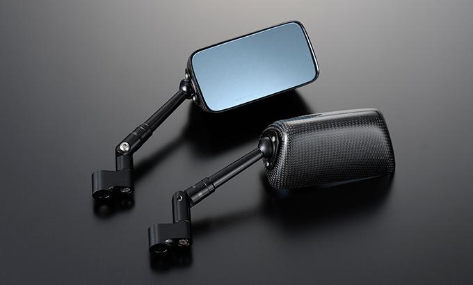 Magical Racing マジカルレーシング ミラー類 NK1ミラー TYPE-3 ステーカラー:シルバー ステム:ロング ヘッド素材:平織りカーボン 付属ボルトサイズ:逆8mm×1/逆8mm×1