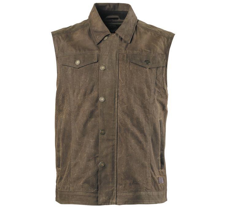 RSD Roland Sands Design ローランドサンズ Design Men's Ramone Perforated Waxed Cotton Vest