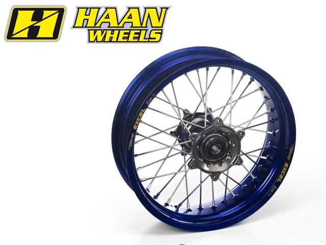 HAAN WHEELS ハーンホイール ホイール本体 リアモタードコンプリートホイール R4.25/17インチ カラー:イエロー カラー:ブラック YZF250 YZF450