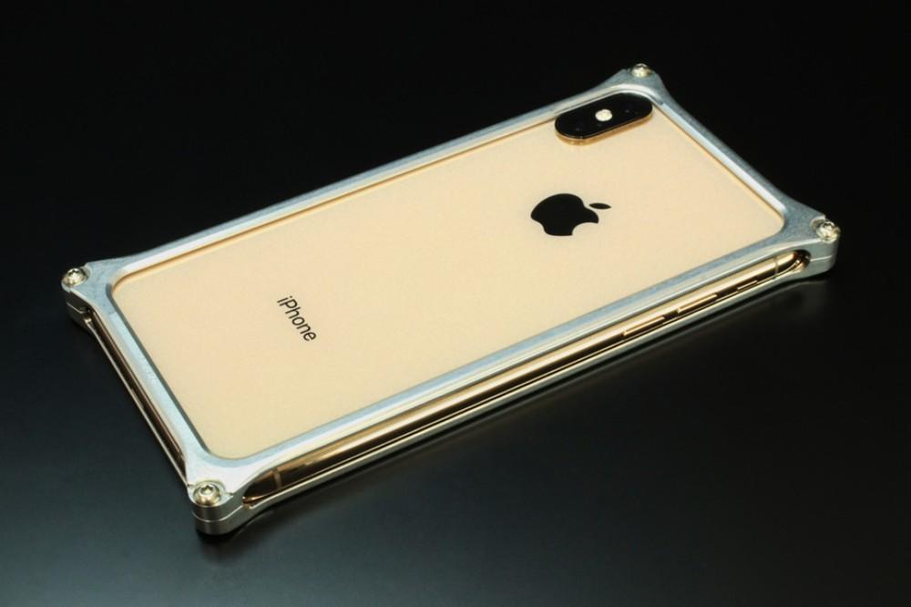 GILD design ギルドデザイン スマートフォンケース ソリッドバンパー for iPhoneXS MAX カラー:シルバー