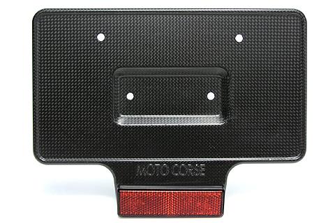 MOTO CORSE モトコルセ ナンバープレート関連 ライセンスプレートベース タイプ:マットフィニッシュ