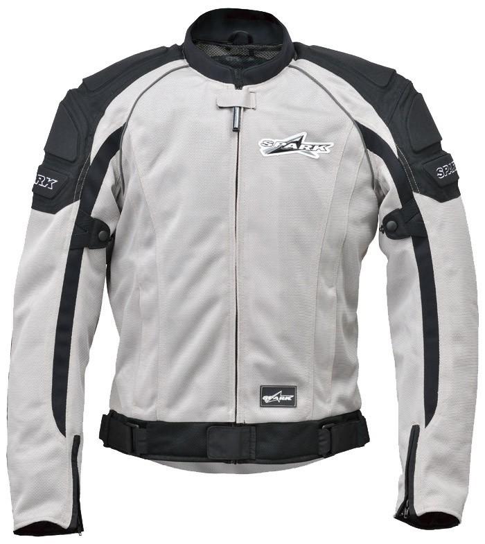 SPARK スパーク スポーツライドメッシュジャケット カラー:シルバー サイズ:3L