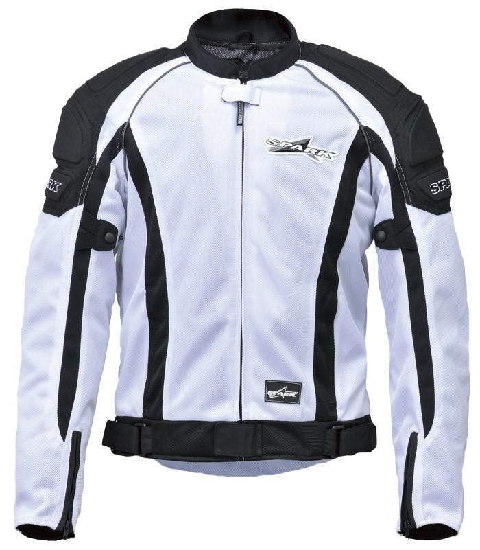 SPARK スパーク スポーツライドメッシュジャケット カラー:ホワイト サイズ:4L