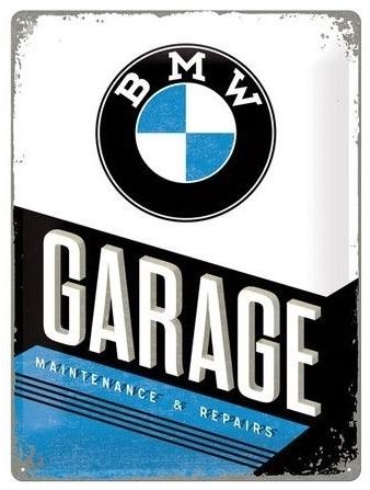ビーエムダブリュー その他グッズ BMW GARAGE メタルサイン (バナーボード) サイズ:W400mm×H600mm
