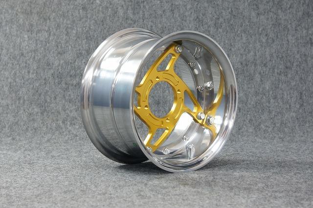 GM-MOTO ジーエムモト ホイール本体 【7.0J】モンキー用 10インチ スーパーワイドホイール(7.0J) スポーク:ゴールドアルマイト モンキー