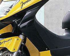 Magical Racing マジカルレーシング スクーター外装 レッグガード 素材:FRP製(ブラック) フォーサイト