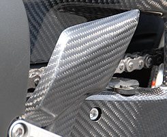 Magical Racing マジカルレーシング その他ステップパーツ ヒールガード 素材:平織りカーボン製 CBR1000RR
