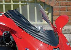【ポイント5倍開催中!!】【クーポンが使える!】 Magical Racing マジカルレーシング カーボントリムスクリーン クリア 平織りカーボン製 F4