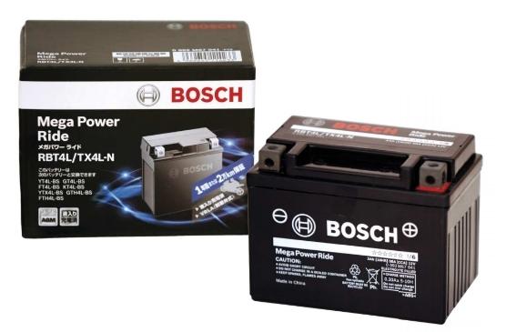 BOSCH ボッシュ RBTZ10S-N メンテナンスフリーバッテリー【Mega Power Ride/メガパワーライド】