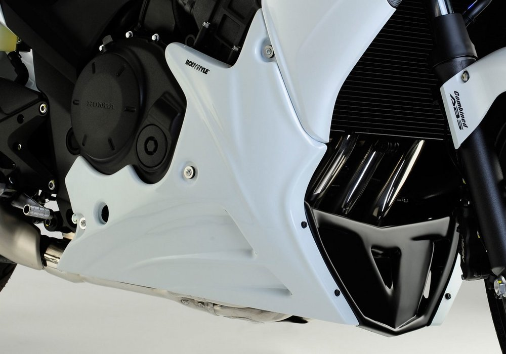 BODY STYLE ボディースタイル ロワーフェアリング(アンダーカウル)(Sportsline lower fairing) Color:white (Color code:Pearl Cool White, NHA16)