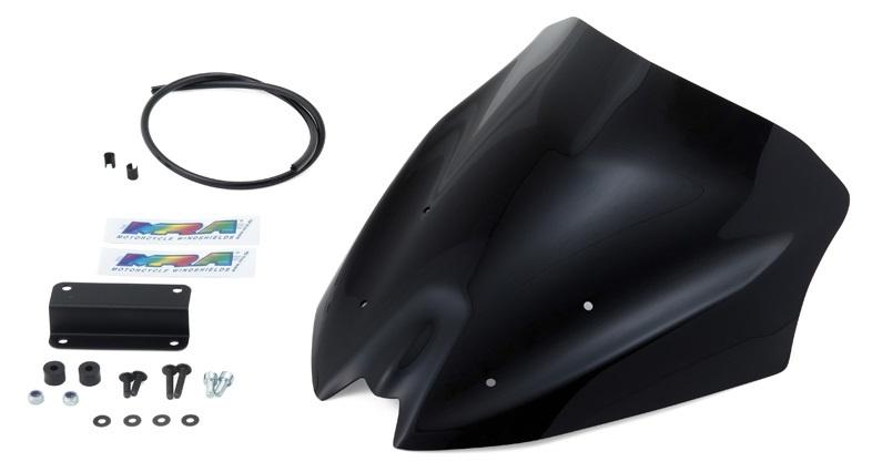 MRA エムアールエー スクリーン スポイラー カラー:ブラック/グラデーション無し Z800 (ZR800A) (13-16)