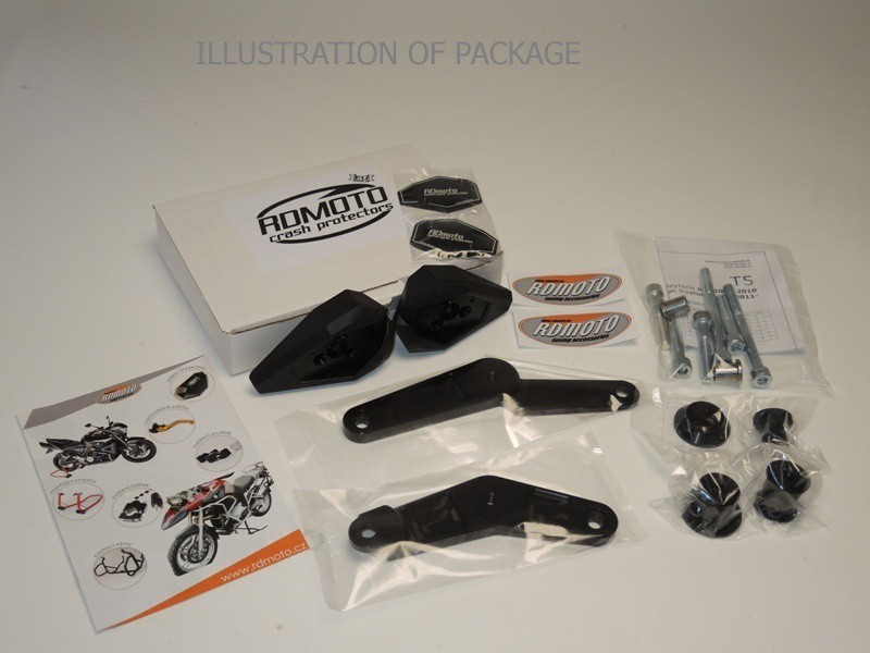 RDmoto アールディーモト ガード・スライダー クラッシュスライダー【Crash sliders】 Colour:black aluminium anodized Colour:white polyamid Versys 1000