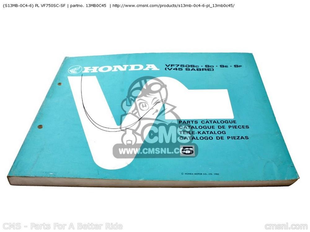 CMS シーエムエス 書籍 (S13MB0C46) PL VF750SC-SF VF750SC-SF (S13MB0C46)
