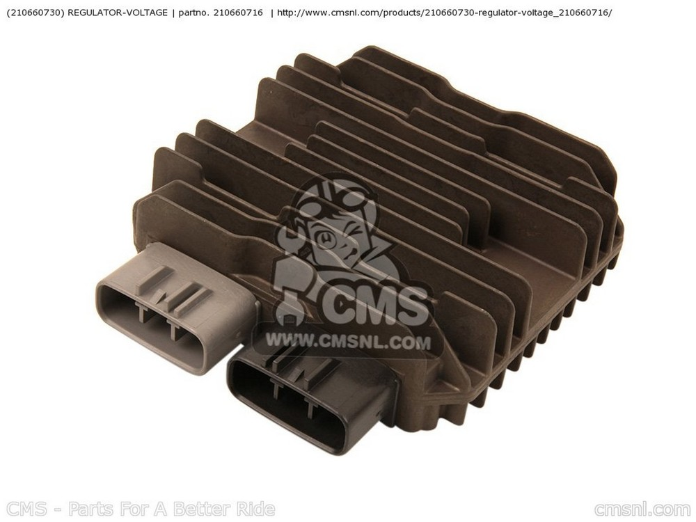 CMS シーエムエス (210660730) REGULATOR-VOLTAGE ZX636EDF NINJA ZX6R USA ZX636EEF NINJA ZX6R USA ZX636FDF NINJA ZX6R USA / ABS ZX636FEF NINJA ZX6R USA / ABS