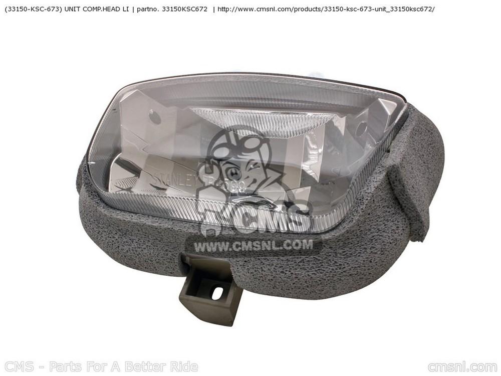 CMS シーエムエス ヘッドライト本体・ライトリム/ケース (33150-KSC-673) UNIT COMP.HEAD LI CRF250X 2004 (4) EUROPEAN DIRECT SALES / CMF