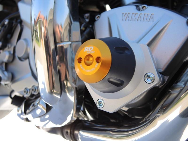 RDmoto アールディーモト ガード・スライダー クラッシュプロテクター【Crash protectors】 Colour:blue aluminium anodized MT01