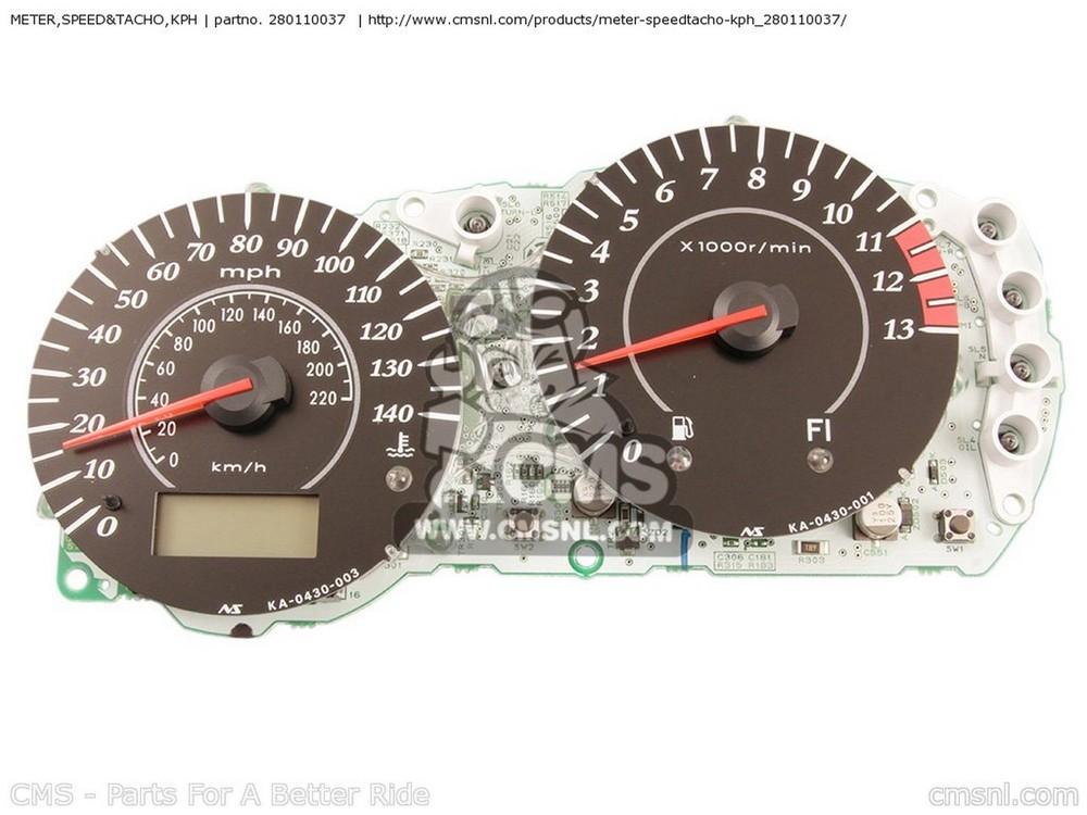 CMS シーエムエス スピードメーター METER,SPEED&TACHO,KPH EX650A6F NINJA 650R 2006 USA CALIFORNIA CANADA