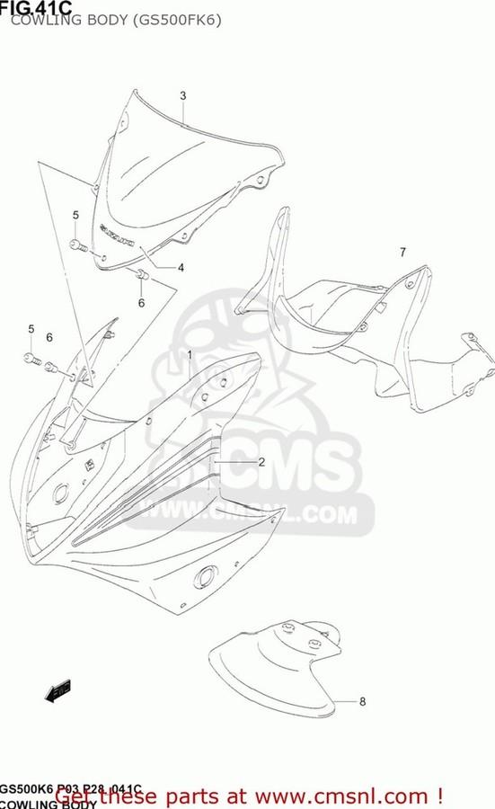 CMS シーエムエス アッパーカウル (68130-0BE20-LR5) 68130-0BE20-LR5
