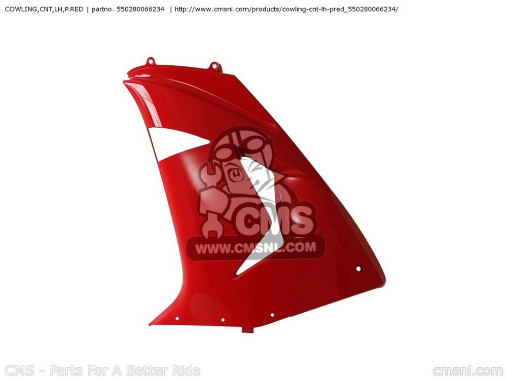 CMS シーエムエス サイドカバー COWLING,CNT,LH,P.RED ZX1000D7F NINJA ZX10R USA CALIFORNIA CANADA