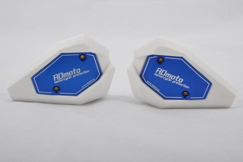RDmoto アールディーモト ガード・スライダー クラッシュスライダー【Crash sliders】 アルマイトカラー:blue aluminium anodized スライダーベースカラー:white Z900 2017-